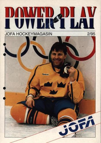JOFA Volvo Hockey Powerplay Jofa hockeymagasin Nr2 1995 0232