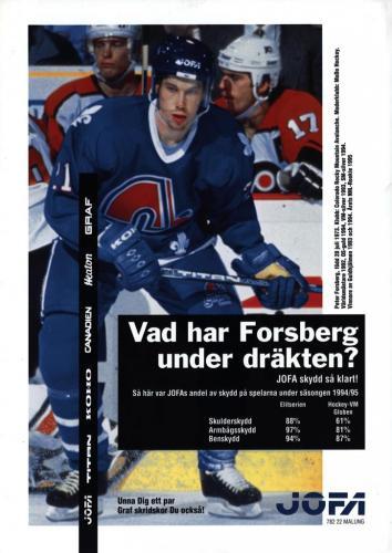 JOFA Volvo Hockey Jofa Forsberg 0241