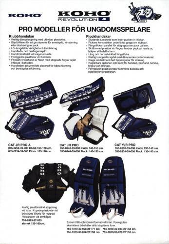 JOFA Volvo Hockey Koho, pro-modeller för ungdomsspelare 0250