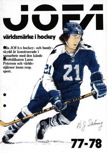 JOFA Volvo Hockey 0702 Hockey 1977-78 Salming