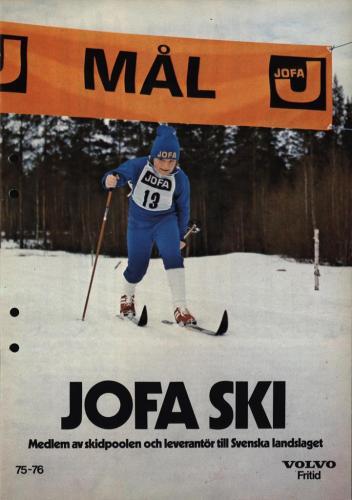 JOFA Volvo Längdåkning Jofa ski 75-76 0113