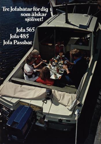 JOFA Volvo Sportbåtar Jofabåtar 565, 485 & jofa passbåt 0038