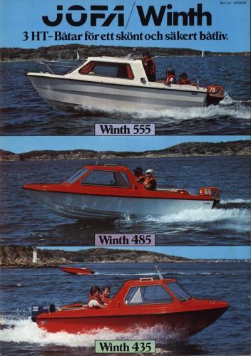 JOFA Volvo Sportbåtar Jofa Winth 555, 485, 435 0046