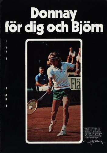 JOFA Volvo Tennis Donnay för dig och Björn 0125