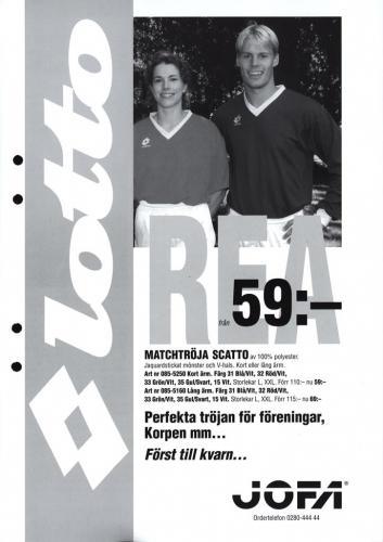 JOFA Volvo Träningskläder & skor Lotto matchtröja Scatto, Jofa 0268