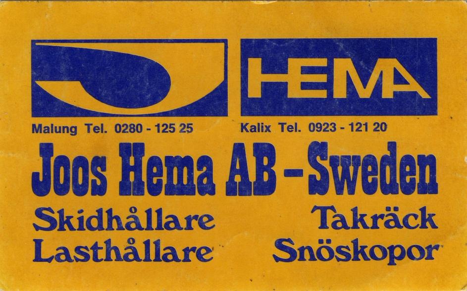 Klistermärke Joos Hema
