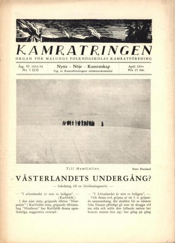 Folkhögskolan Kamratringen 1934-3