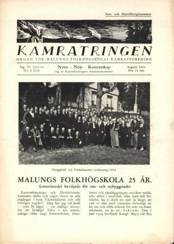 Folkhögskolan Kamratringen 1934-4