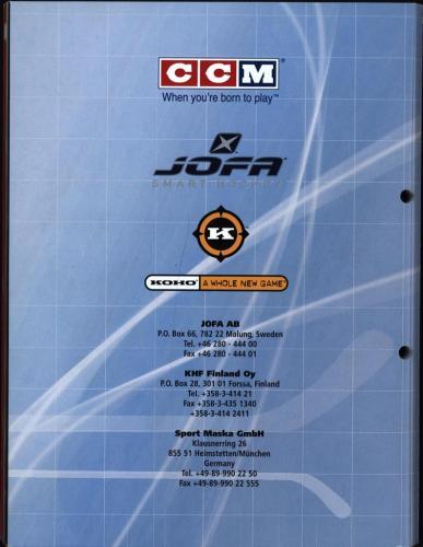 CCM Jofa hockey equipment 2004 Blad53