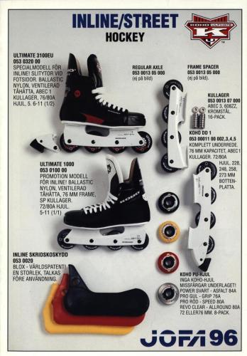 Inline street hockey Jofa 96 Blad01