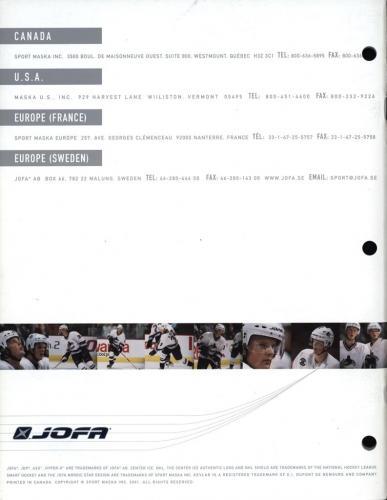 JOFA-katalog Canada 2001 Blad19