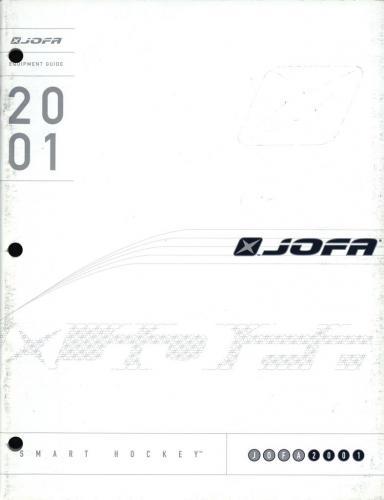 JOFA smart hockey 2001 equipment guide 01