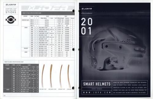 JOFA smart hockey 2001 equipment guide 07