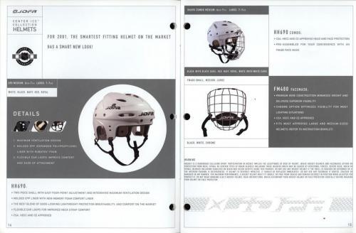 JOFA smart hockey 2001 equipment guide 08