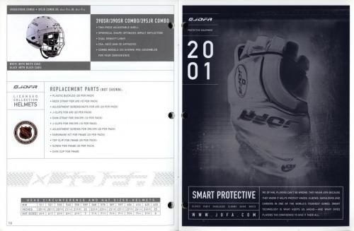 JOFA smart hockey 2001 equipment guide 09