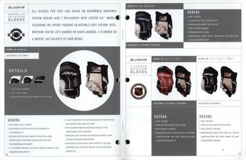 JOFA smart hockey 2001 equipment guide 10