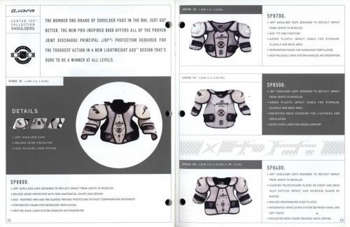 JOFA smart hockey 2001 equipment guide 12