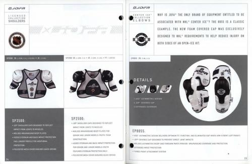 JOFA smart hockey 2001 equipment guide 13