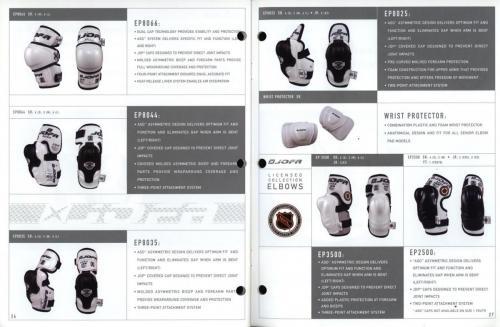 JOFA smart hockey 2001 equipment guide 14