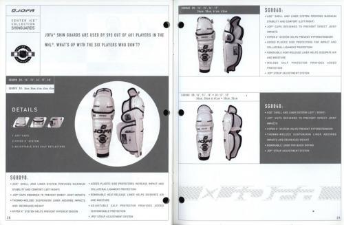 JOFA smart hockey 2001 equipment guide 15