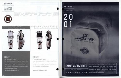 JOFA smart hockey 2001 equipment guide 16