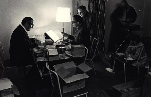 Jobb med sockenböckerna Petterssons foto lunchrummet