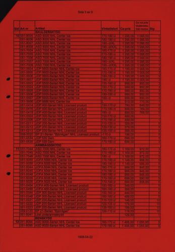 Jofa Rosa pantern prislista produktkatalog 1998-99 Blad03
