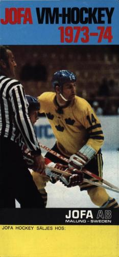 Jofa VM-hockey 1973-74 Liten broschyr 01