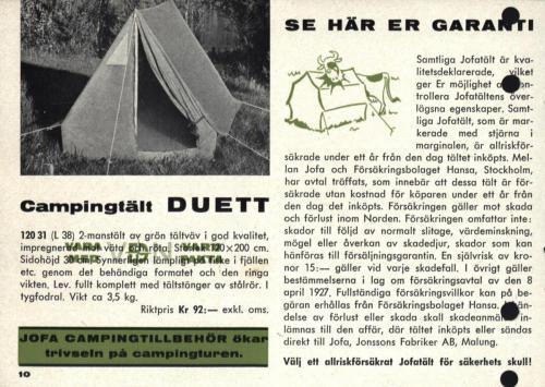 Jofa campingguide 1964 Blad10