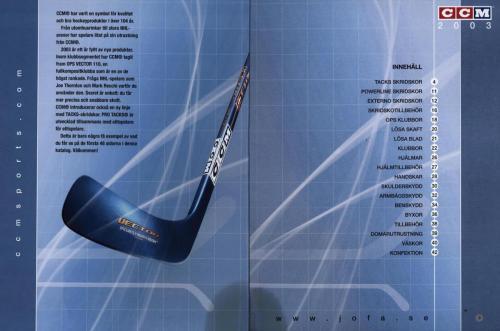 Jofa ccm hockeyutrustning 2003 Blad02
