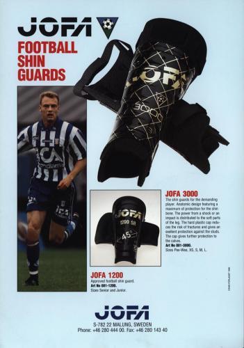 Jofa football shin guards