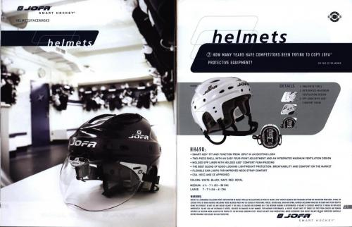Jofa smart hockey equipment guide 2003 Blad12