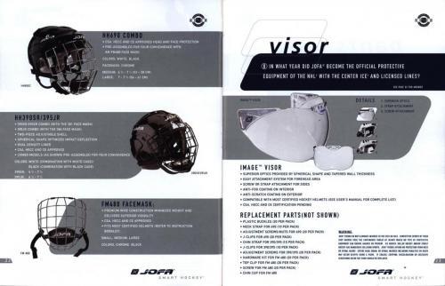 Jofa smart hockey equipment guide 2003 Blad13