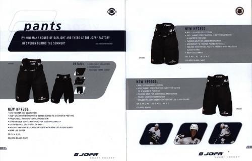 Jofa smart hockey equipment guide 2003 Blad14