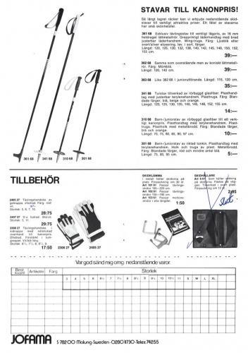 Jofama Sporthandskar 81-82 Prislista Sid02