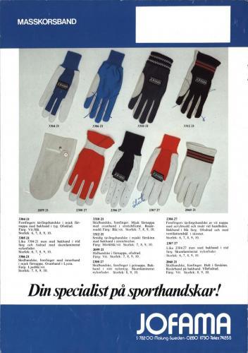 Jofama Sporthandskar 81-82 Sid03