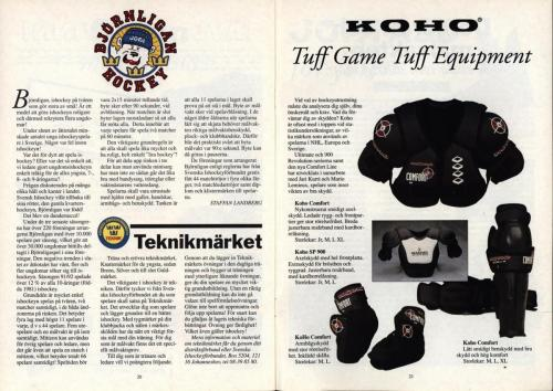 Powerplay Jofa hockeymagasin Nr1 1993 Blad11