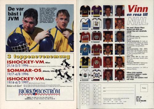 Powerplay Jofa hockeymagasin Nr2 1995 Blad16