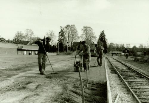 1984 Ny perrong Plattformsbygge