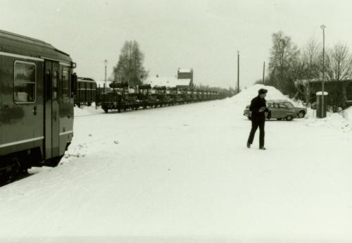1985 Storövning försvaret Stins Lennart Hallbeck från SJ Borlänge