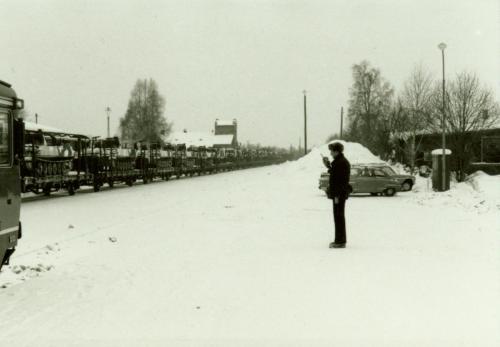 1985 Storövning försvaret2 Stins Lennart Hallbeck från SJ Borlänge