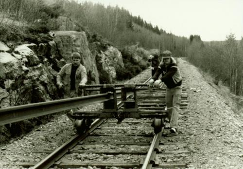 1988 Rälsbyte. Vid Lugnet