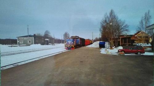 20000317 Sista tåget från virkesterminalen Malungsfors 1