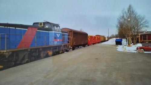 20000317 Sista tåget från virkesterminalen Malungsfors 2