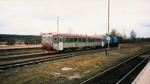 Bogsering av motorvagn som havererat Motorvagn Y1 Tåg i Bergslagen3