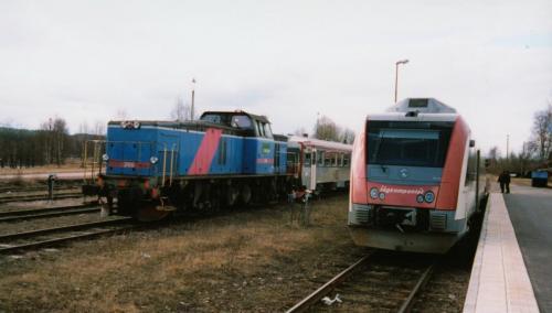 Bogsering av motorvagn som havererat Motorvagn Y1 Tåg i Bergslagen5