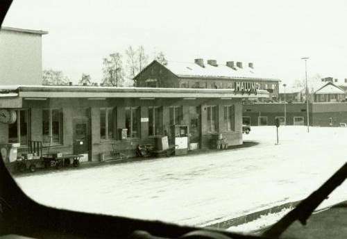 Från loket. Malungs station