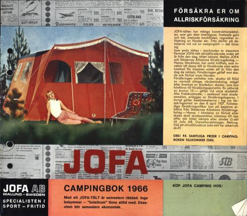 JOFA Oskar Camping Jofa campingbok 1966 0426