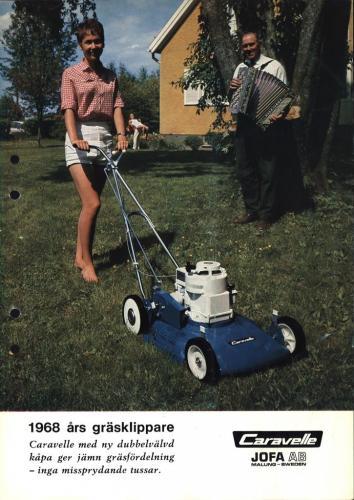 JOFA Oskar Gräsklippare Caravelle gräsklippare 1968 0490