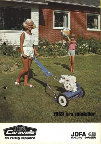 JOFA Oskar Gräsklippare Caravelle gräsklippare 1969 0491